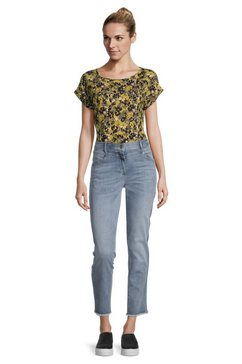 betty barclay slim fit jeans »mit waschung« blauw