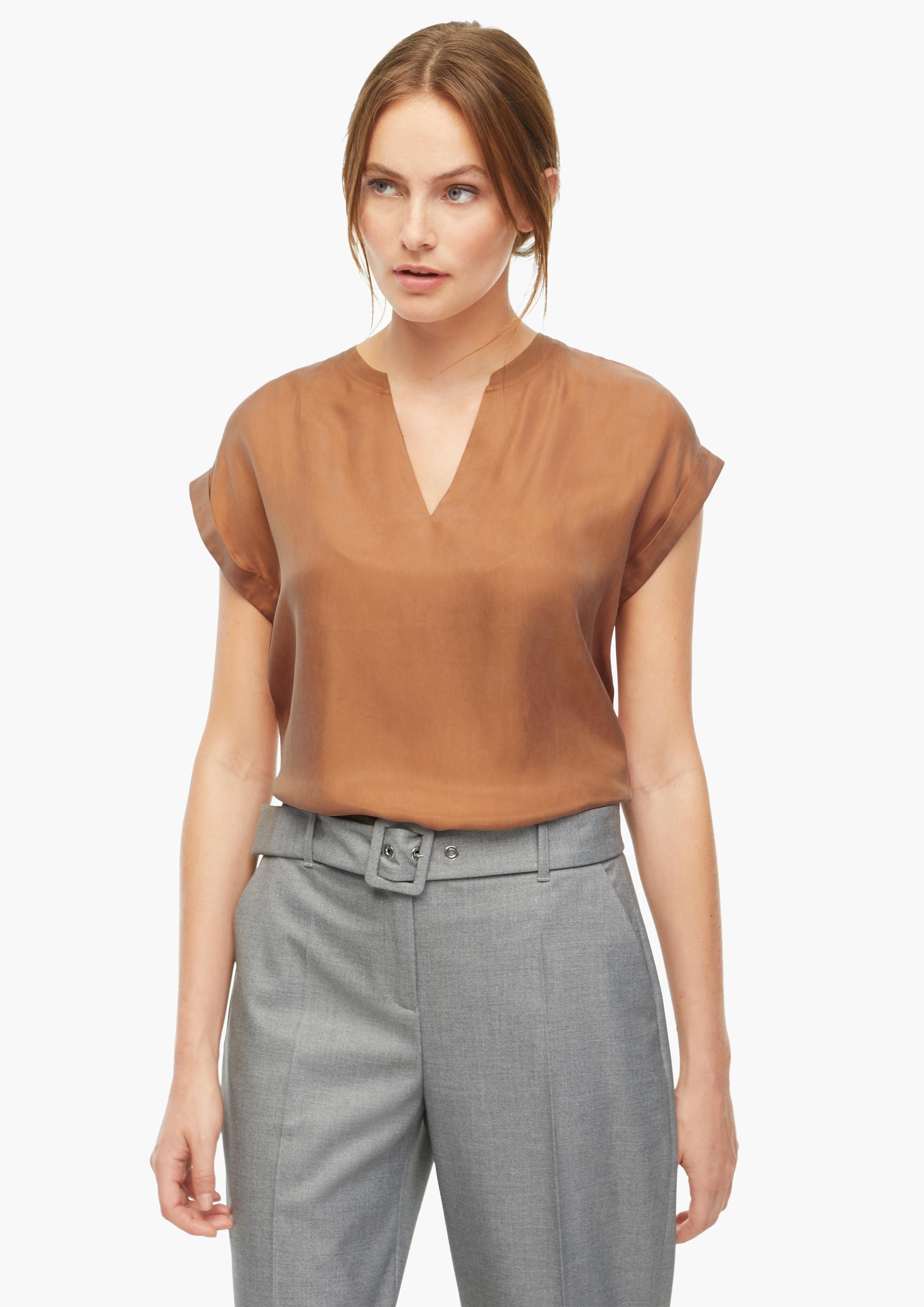 s.Oliver BLACK LABEL blouse met korte mouwen in de webshop van OTTO kopen