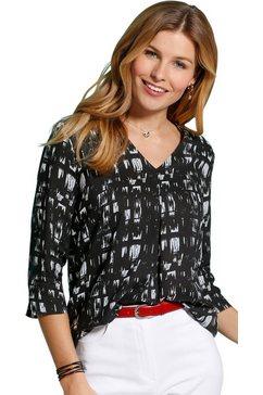 classic basics blouse zonder sluiting zwart