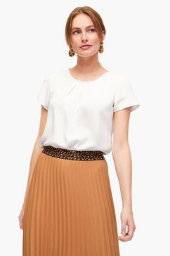 s.oliver black label blouse met korte mouwen beige