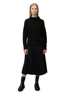 marc o'polo denim trui met staande kraag zwart