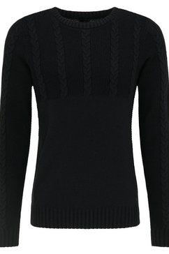 mustang gebreide trui »emil c cable« zwart