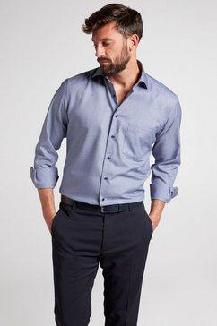 eterna overhemd met lange mouwen »modern fit« blauw