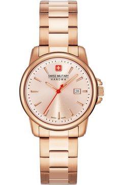 swiss military hanowa zwitsers horloge »swiss recruit lady ii, 06-7230.7.09.010« goud