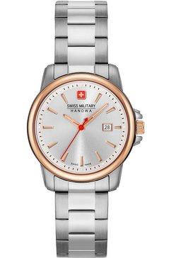 swiss military hanowa zwitsers horloge »swiss recruit lady ii, 06-7230.7.12.001« zilver