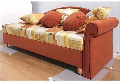 Bed met ombouw met 5 zones comfortbekleding oranje Breckle 161794