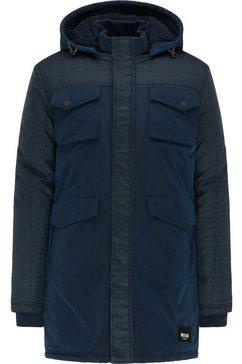 mustang outdoorjack »dietmar fabric mix« blauw