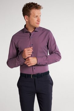 eterna overhemd met lange mouwen »slim fit« rood