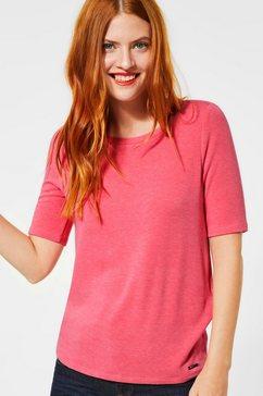 street one shirt met ronde hals roze