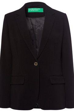 united colors of benetton lange blazer zwart