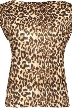 please jeans shirt met korte mouwen »t640« bruin