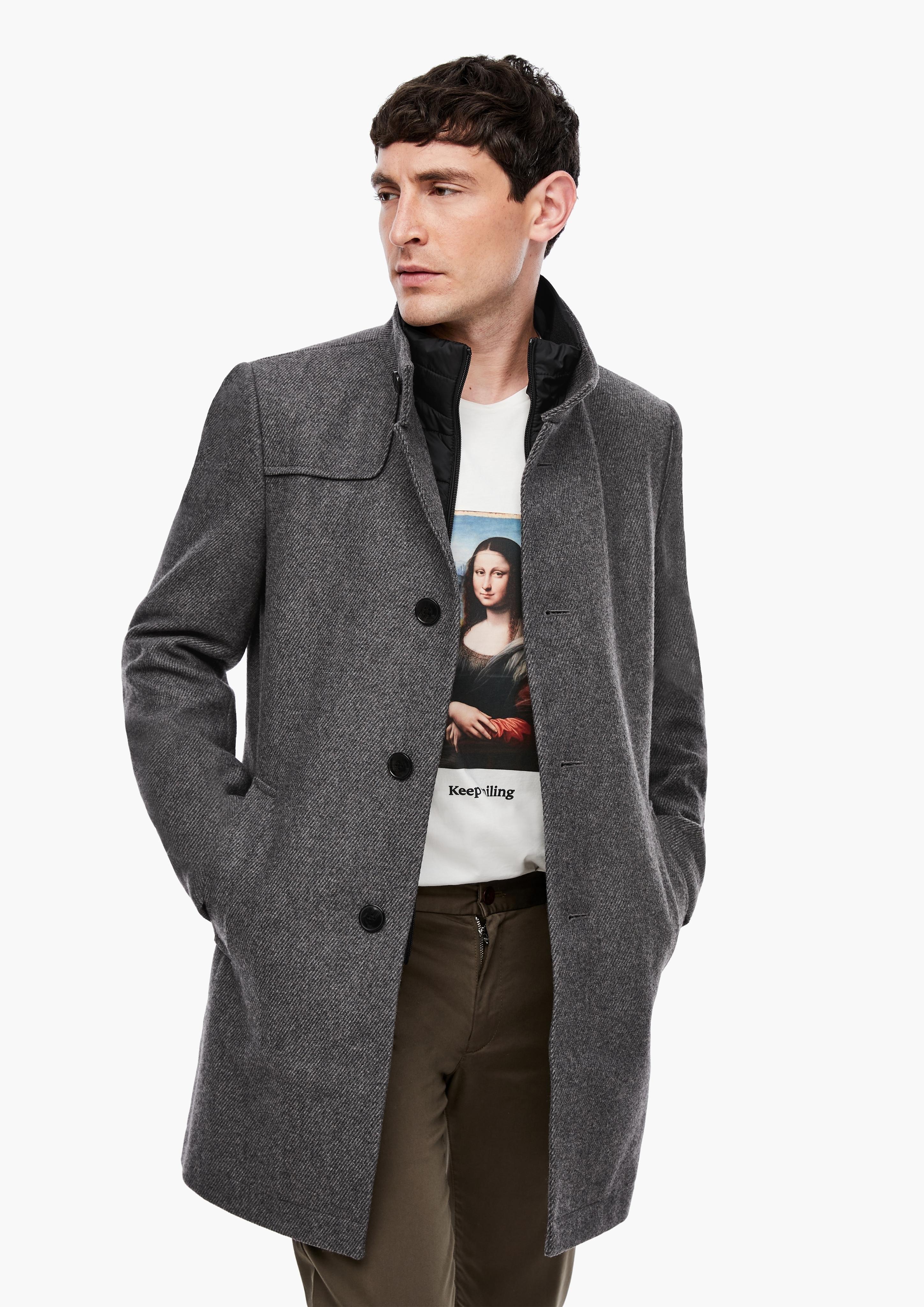 s.Oliver BLACK LABEL korte jas - gratis ruilen op otto.nl