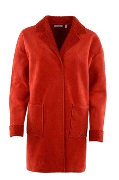 hajo padded lange jas rood