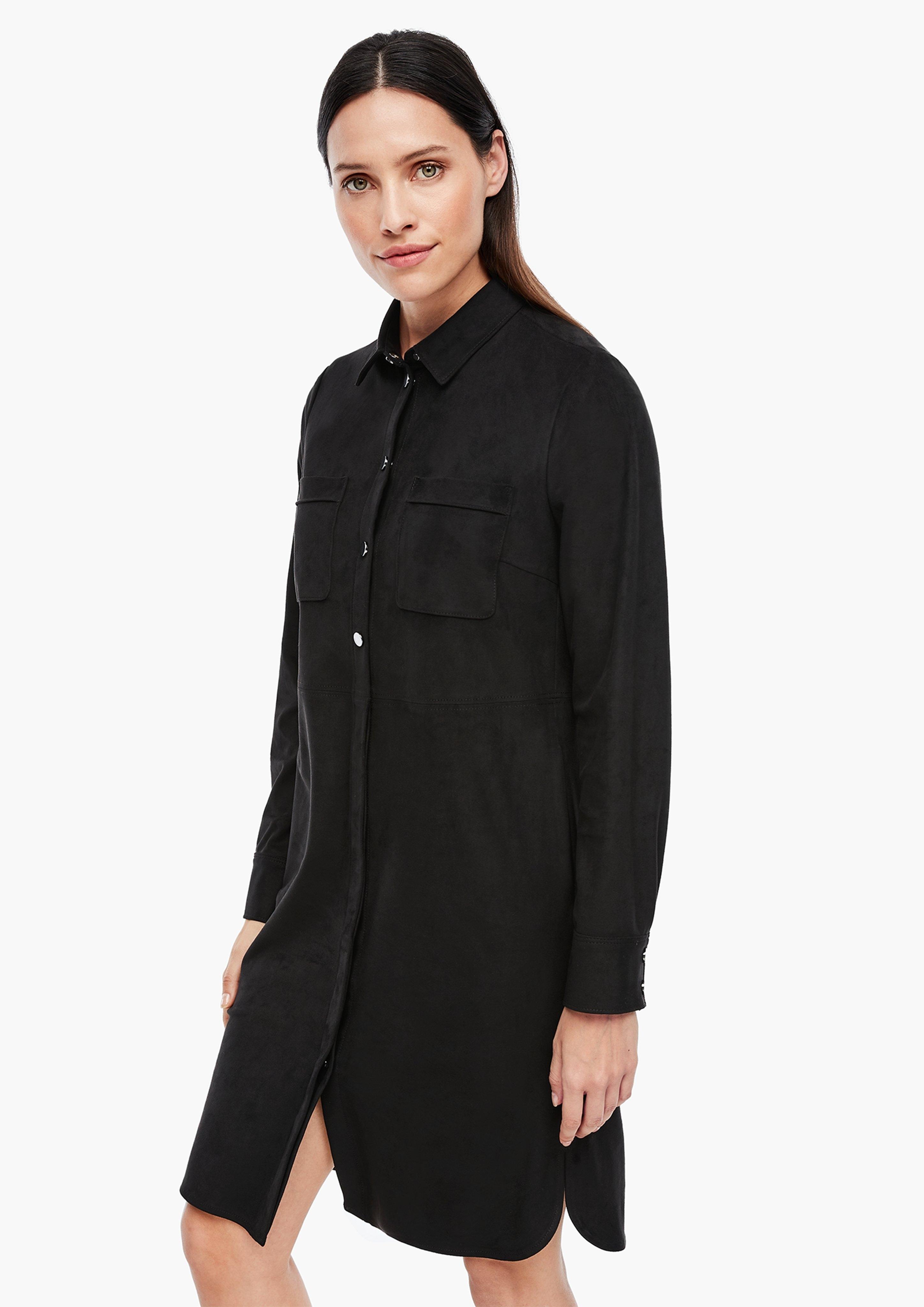 s.Oliver BLACK LABEL jurk met overhemdkraag nu online kopen bij OTTO