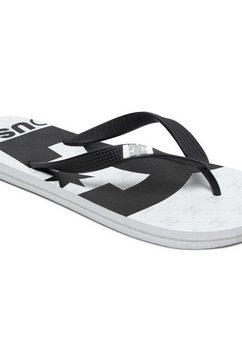 dc shoes teenslippers »spray graffik« wit