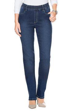 classic basics high-waist jeans blauw