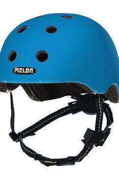 melon kinderhelm »toddler - rainbow blue« blauw