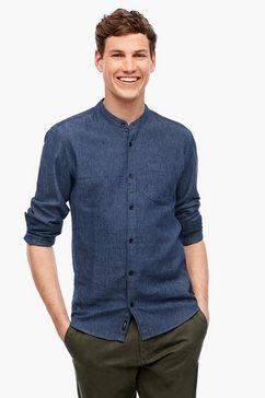 q-s designed by overhemd met lange mouwen blauw