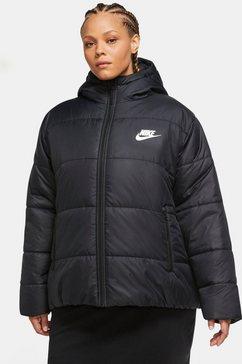 nike gewatteerde jas »women core jacket plus size« zwart