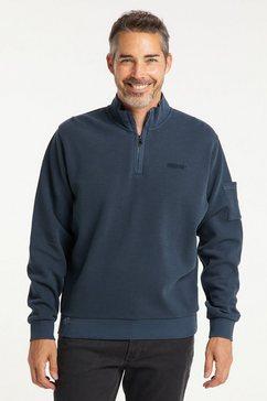 pioneer authentic jeans sweatvest »sweat troyer« blauw