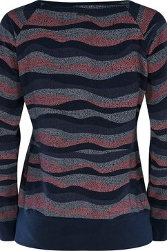 mazine sweatshirt »sherry sweater« blauw