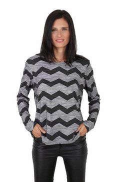 seidel moden shirt met ronde hals grijs