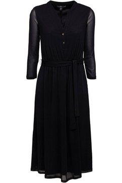 esprit collection blousejurkje (met bindstrik) zwart