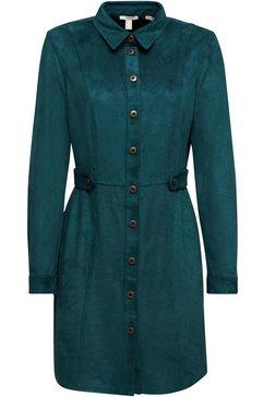 edc by esprit jurk met overhemdkraag groen