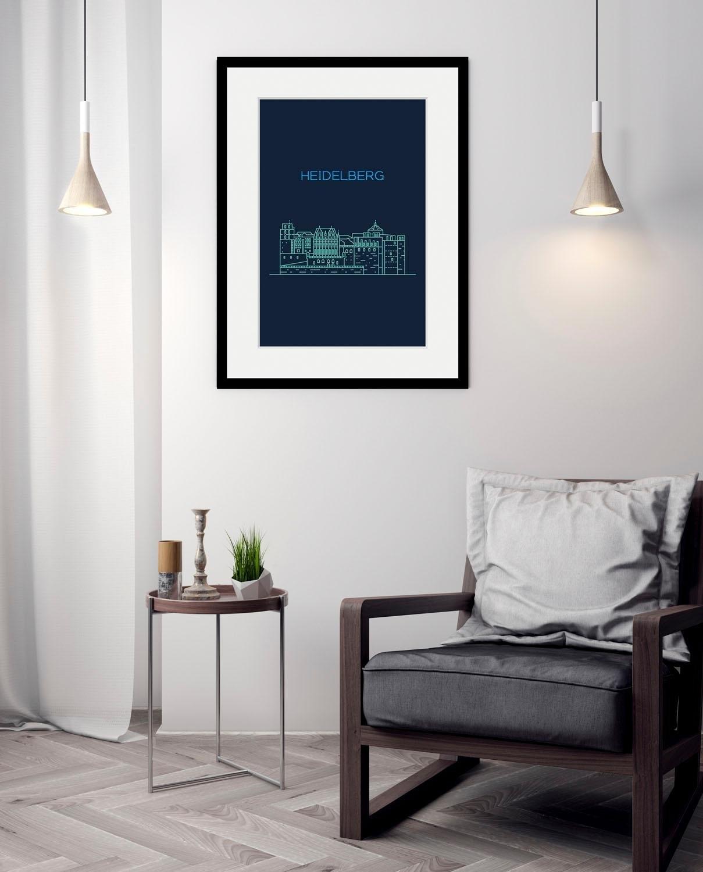 queence wanddecoratie »Heidelberg Sightseeing« veilig op otto.nl kopen