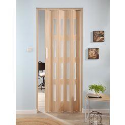 klapdeur luciana essenhout, met 4 vensters met ribbelstructuur beige