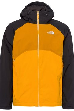 the north face regenjack »stratos« geel