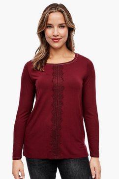 triangle shirt met lange mouwen rood