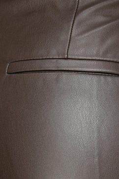 mac 7-8 jeans »slim leather zip« bruin