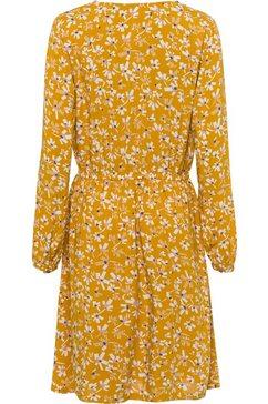 edc by esprit gedessineerde jurk gelb