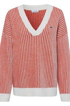 lacoste wollen trui rood