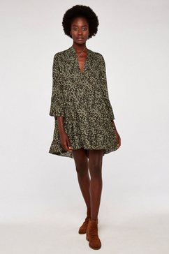 apricot gedessineerde jurk »camo look print tiered dress« groen