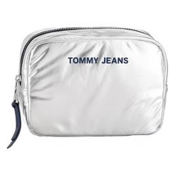 tommy jeans make-uptasje »tjw nylon twist washbag met« zilver