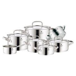 wmf pannenset 'gourmet plus' 7-delig zilver