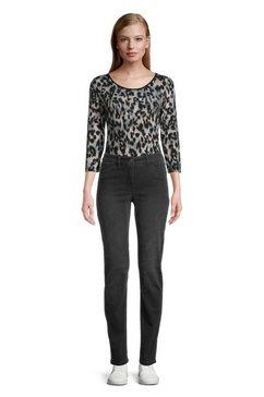 betty barclay slim fit jeans »mit aufgesetzten taschen« zwart