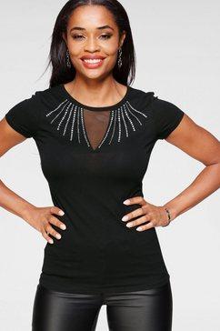 melrose shirt met ronde hals zwart