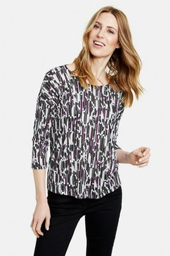 gerry weber shirt met 3-4-mouwen »3-4 arm shirt mit grafischem muster« multicolor