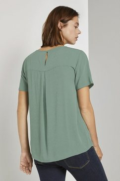 tom tailor denim top »strukturiertes blusenshirt« groen