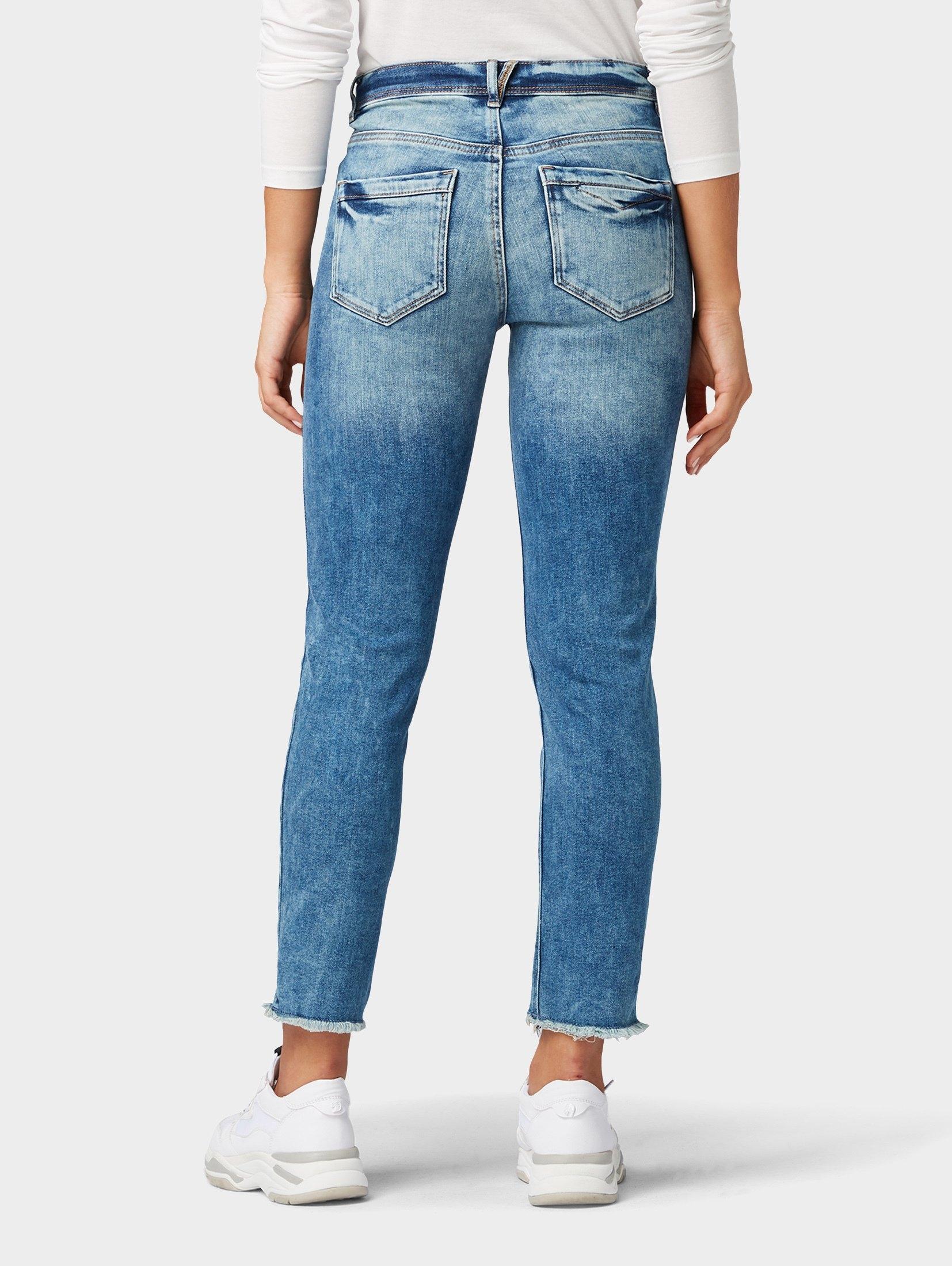 TOM TAILOR slim fit jeans »Kate slim jeans in enkellengte« bij OTTO online kopen