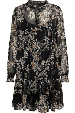 mavi jurk met overhemdkraag zwart