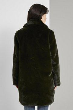 tom tailor jack van imitatiebont »weicher faux-fur mantel« groen