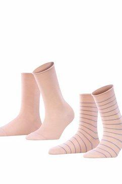 falke sokken »happy 2-pack« paars