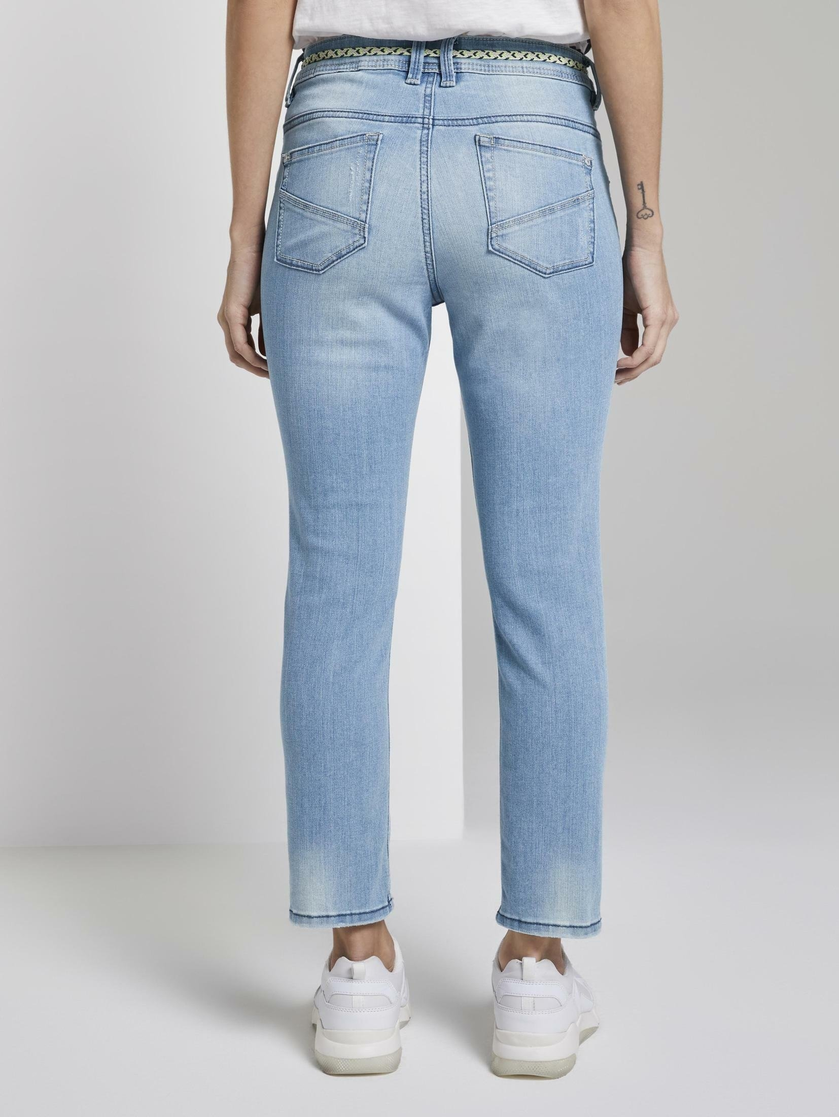 TOM TAILOR regular fit jeans »Tapered Relaxed Jeans in 7/8-Länge« bestellen: 30 dagen bedenktijd