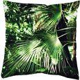 home wohnideen kussenovertrek jungola digitale print (1 stuk) groen
