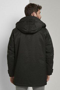 tom tailor winterjack »lange funktions-winterjacke« zwart