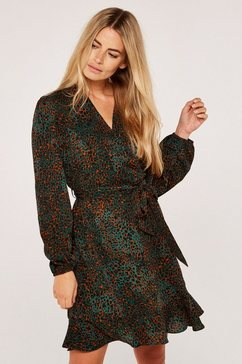 apricot gedessineerde jurk »camo animal dot dress« (met een bindceintuur) groen